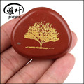 Engraved Tree Of Life Red Jasper Palm Stone For Sale