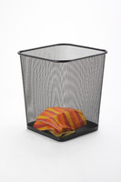 metal mesh black office square standing waste paper bin