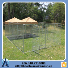 Baochuan-- wholesale 2 sections animals fence pens big dog playing cages waterproof pets kennels