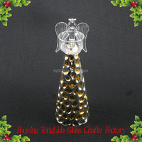 Stained glass angel candle holder for home decoration