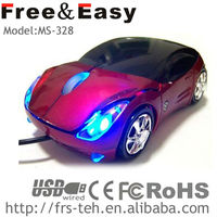 MS-328 best hot sale wired car mouse with led light led car mouse