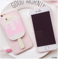 Huashi new TPU pink phone case cover with flower style mirror and duty plug for iphone 6plus and 6s plus