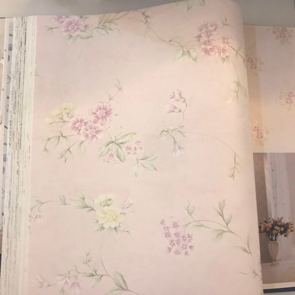 Wholesale low price beautiful rose Hot selling economics use vinyl wallpaper display stand