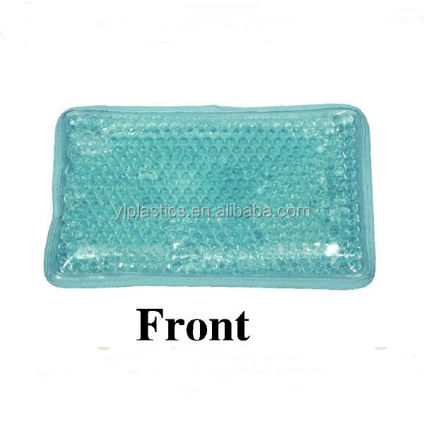 Plush square customized logo gel beads hot cold pack for body use