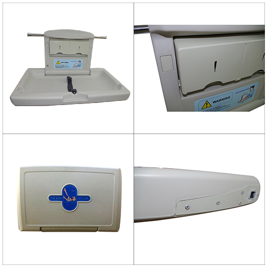 Wall mounted ABS plastic folding baby changing table