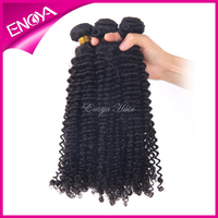 Natural Color Top Quality Indian Kinky Curly Remy Hair Weave