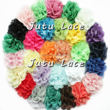 3.75 inch fashion wedding flower heads / lace artificial flower hair accessories