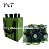 Polyester Handle two tone color bottle wine bag
