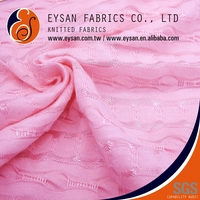 EYSAN Light See Through Jacquard 100% Polyester Knitted Cloth Fabric