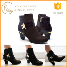2016 custom shoe manufacturers medium heel woman boot