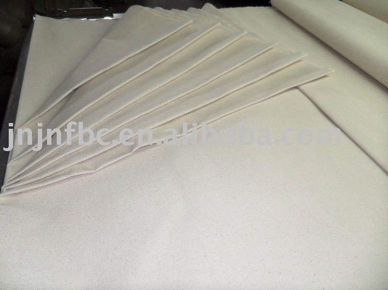 natural white cotton canvas fabric for cloth/glove