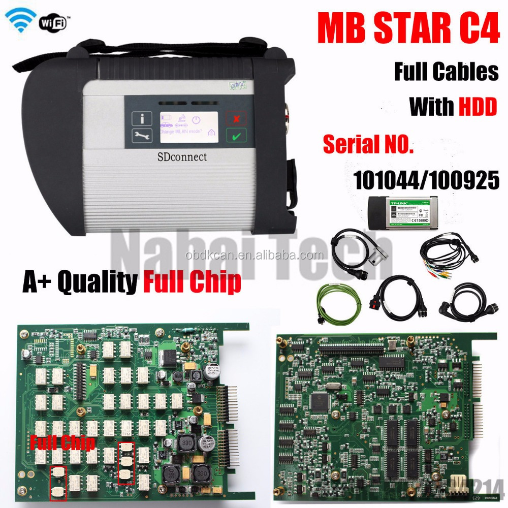 A++ Quality Full Chip MB STAR C4 without 2017.03 software Diagnosis Compact 4 SD Connect C4 Scanner Automotivo Diagnostic-tool