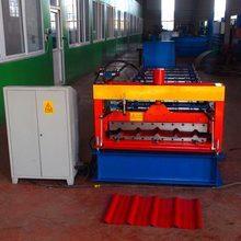 China 760 cnc trapezoidal trapeze corrugated metal color aluminum roof cold ibr sheet roll forming machine for africa