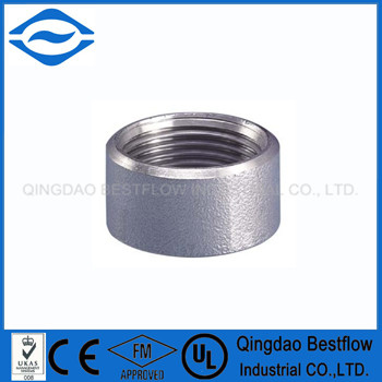 Screwed half coupling pipe fitting