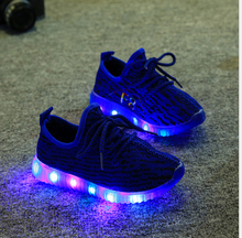 NKP16-006 New design cheap customize sport children sneakers led kids light shoes
