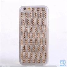 Fashionable Bling Diamond Studded TPU Back Cover Case for iPhone 6 Plus 5.5inch