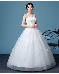 ZH2344D Wholesale sexy lady mesh flower wedding dress for women