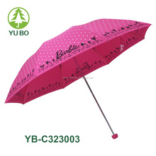 23inch hand open strong and firm structure 3 fold rain umbrella