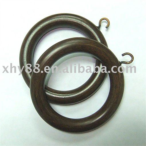 WR-001 57.15mm Hot sell Rubber wood curtain ring