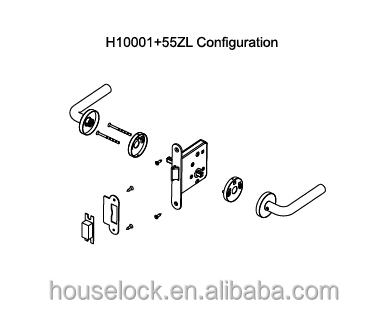 hot selling EN standard stainless steel baby latch bolt only mortise door lock for wooden or steel doors