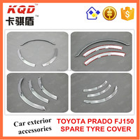 Toyota accessories ABS Plastic chrome spare tyre cover best selling toyota prado chrome accessories in Thailand market