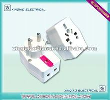 Multi-function 2 round pin Travel Plug adaptor 607F