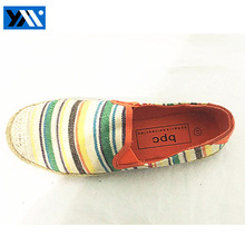 Popular mutli- coloured Italy no lace women flat casual canvas shoes