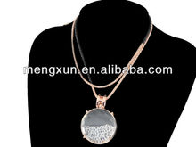 yiwu factory double chain big double current bottle crystal gold gun exaggerate chain necklace