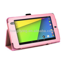 2013 New PU Case new design document wallet leather case cover for Google nexus 7