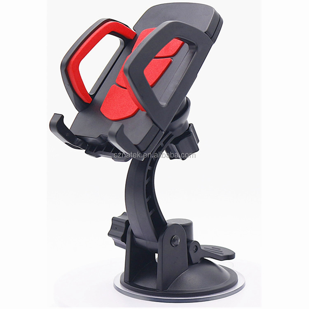 shenzhen phone accessories mobile 360 Degree car phone holder Flexible Universal cell Phone Car mount outo dash board phone dock