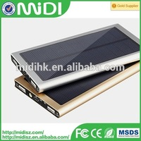 Promotional gift 20000mAh solar power bank for all mobile phones