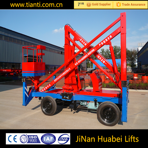 Self propelled articulated boom electric lift