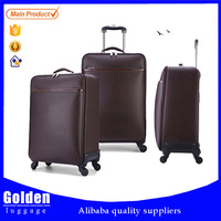 men's business luggage for long distance journey two wheels luggage case fabric material