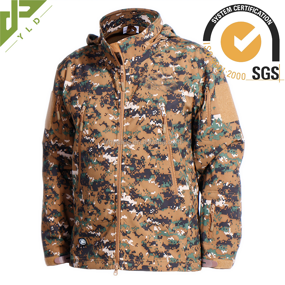 mens wear digital woodland camouflage winter coat