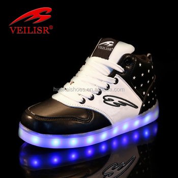 Hottest sale!!! new style USB rechargeable LED luminous light up kids sneakers sport shoes women adult dance shoes