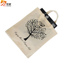 Light Organic Cotton Canvas Custom Printed Grocery Bag For Shopping