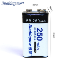 China Supplier Eco-Friendly Ni-MH 250MAH 9V rechargeable battery for multimeter