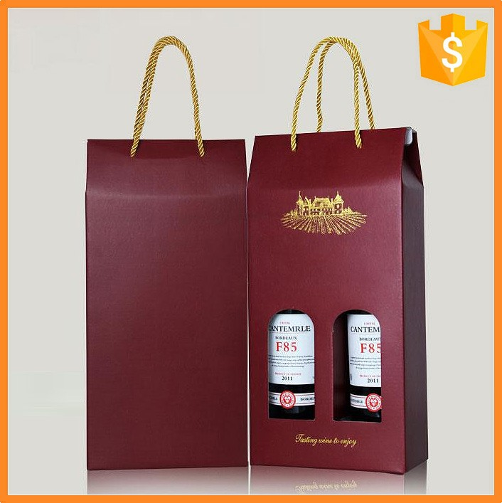 Paper wrap print wine paper packaging box and bag printing