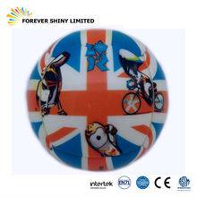 Promotional Gift Small Capsule Toys Bouncing 3 inches Cartoon Full Printing PU Foam 3D Puzzle Ball for Vending Machines