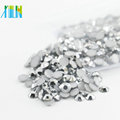 6mm Hot Sale Flat Back Epoxy Non Hotfix Rhinestones for Nail Art , D172 Silver