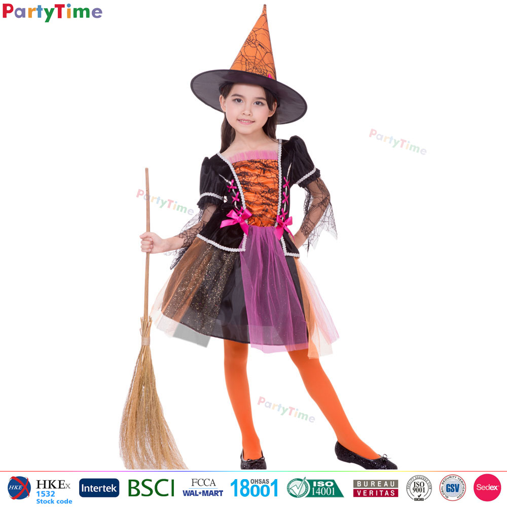 Party Time Brand used halloween costumes sale orange mischievous witch costumes girls halloween costumes
