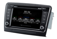 2 din touch screen car stereo with gps dvd navigation system with WINCE system , rds , phone link for skoda Superb