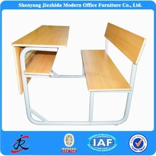 Fashion style adjustable metal frame school desk and chair for school students