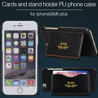 PU leather +pc series mobile cover for iphone 6 6plus case/phone leather flip case with stand fuction