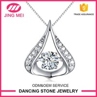 New products stone dancing pendant 925 silver Jewelry