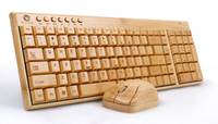 High quality bamboo keyboard & wireless bamboo mouse,eco-friendly,better performance