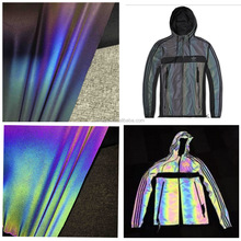 Rainbow reflective sewing fabric
