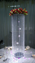 Candle holder flower stand ,crylic crystal chandelier centerpieces for wedding party decor