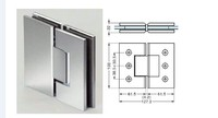 180 degree square bevel glass shower door pivot hinge