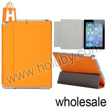 Candy Color Magnetic Flip Stand PC+Leather Case For iPadAir